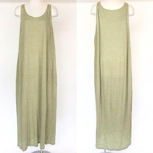 Eileen Fisher size XL yellow stripe tank top dress